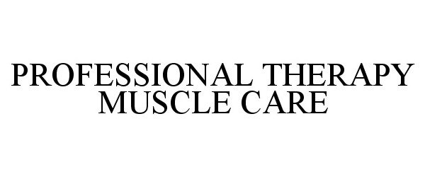 PROFESSIONAL THERAPY MUSCLECARE