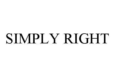 SIMPLY RIGHT