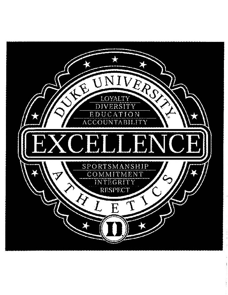 DUKE UNIVERSITY ATHLETICS EXCELLENCE LOYALTY DIVERSITY EDUCATION ACCOUNTABILITY SPORTSMANSHIP COMMITMENT INTEGRITY RESPECT D