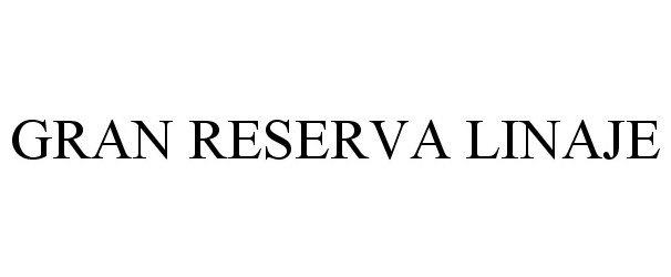 Trademark Logo GRAN RESERVA LINAJE