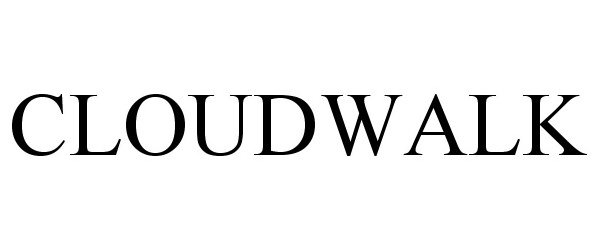 Trademark Logo CLOUDWALK