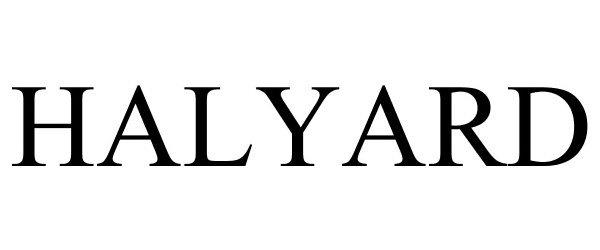 Trademark Logo HALYARD
