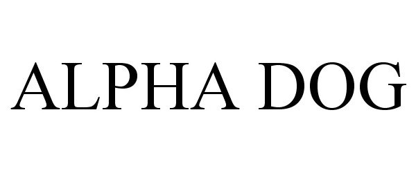 Trademark Logo ALPHA DOG