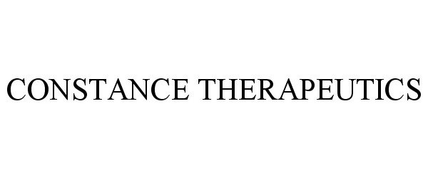 Trademark Logo CONSTANCE THERAPEUTICS