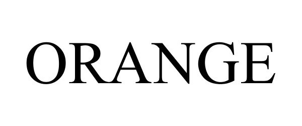 Trademark Logo ORANGE