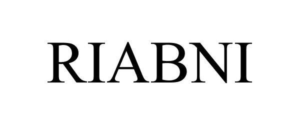 Trademark Logo RIABNI