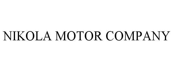 Trademark Logo NIKOLA MOTOR COMPANY