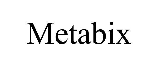 Trademark Logo METABIX
