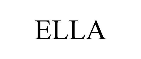 Trademark Logo ELLA