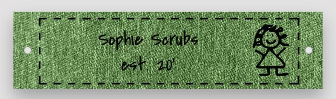 Trademark Logo SOPHIE SCRUBS EST. 20'