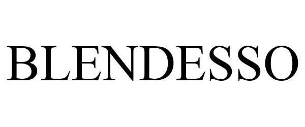 Trademark Logo BLENDESSO
