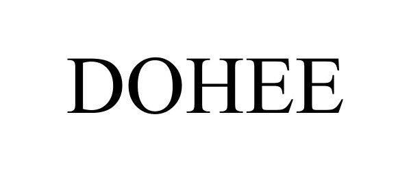 Trademark Logo DOHEE