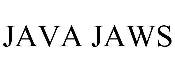 Trademark Logo JAVA JAWS