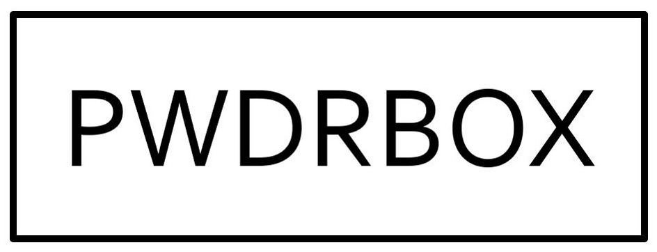 Trademark Logo PWDRBOX