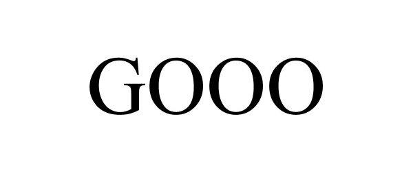 Trademark Logo GOOO