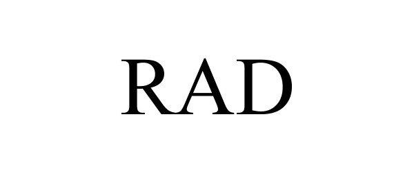 Trademark Logo RAD