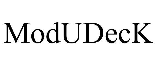 Trademark Logo MODUDECK