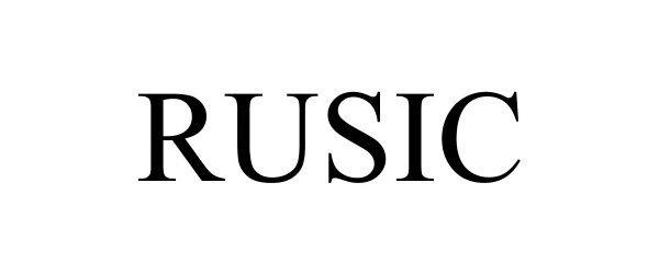Trademark Logo RUSIC