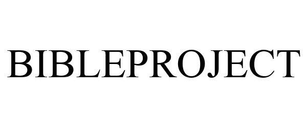 Trademark Logo BIBLEPROJECT