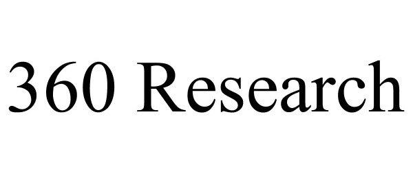 Trademark Logo 360 RESEARCH
