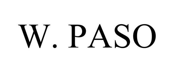 Trademark Logo W. PASO