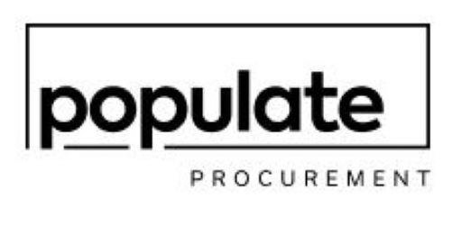 Trademark Logo POPULATE PROCUREMENT