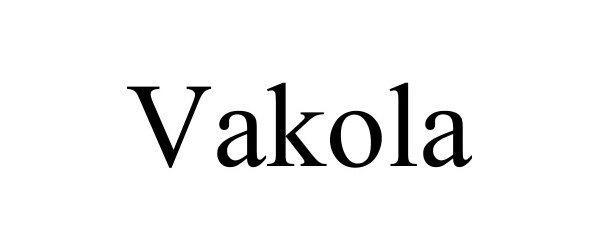 Trademark Logo VAKOLA
