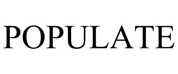 Trademark Logo POPULATE