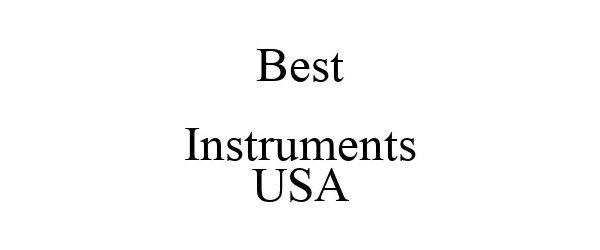 Trademark Logo BEST INSTRUMENTS USA