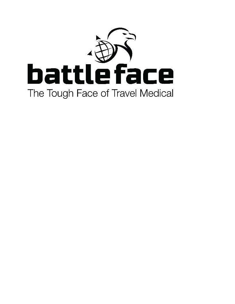 Trademark Logo BATTLEFACE THE TOUGH FACE OF TRAVEL MEDICAL