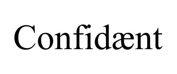 Trademark Logo CONFIDÆNT