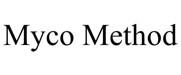 Trademark Logo MYCO METHOD