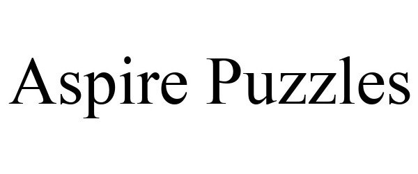 Trademark Logo ASPIRE PUZZLES