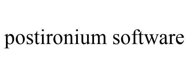 Trademark Logo POSTIRONIUM SOFTWARE