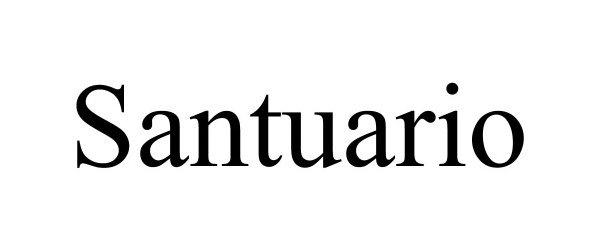 Trademark Logo SANTUARIO