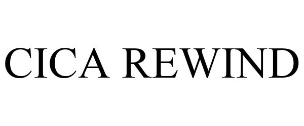 Trademark Logo CICA REWIND