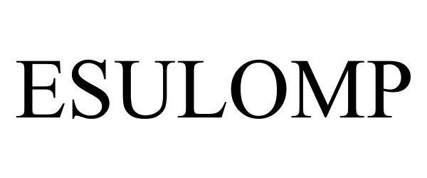 Trademark Logo ESULOMP