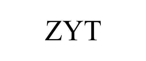 Trademark Logo ZYT