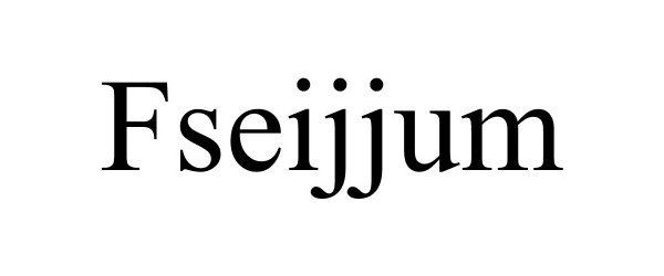 Trademark Logo FSEIJJUM