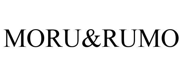 Trademark Logo MORU&RUMO