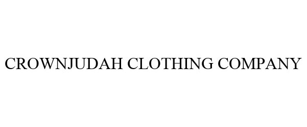 Trademark Logo CROWNJUDAH CLOTHING COMPANY