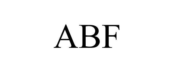 Trademark Logo ABF