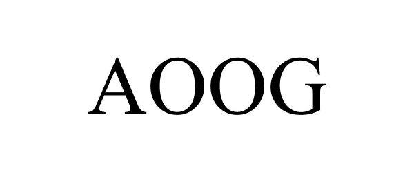 Trademark Logo AOOG