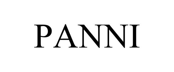 Trademark Logo PANNI