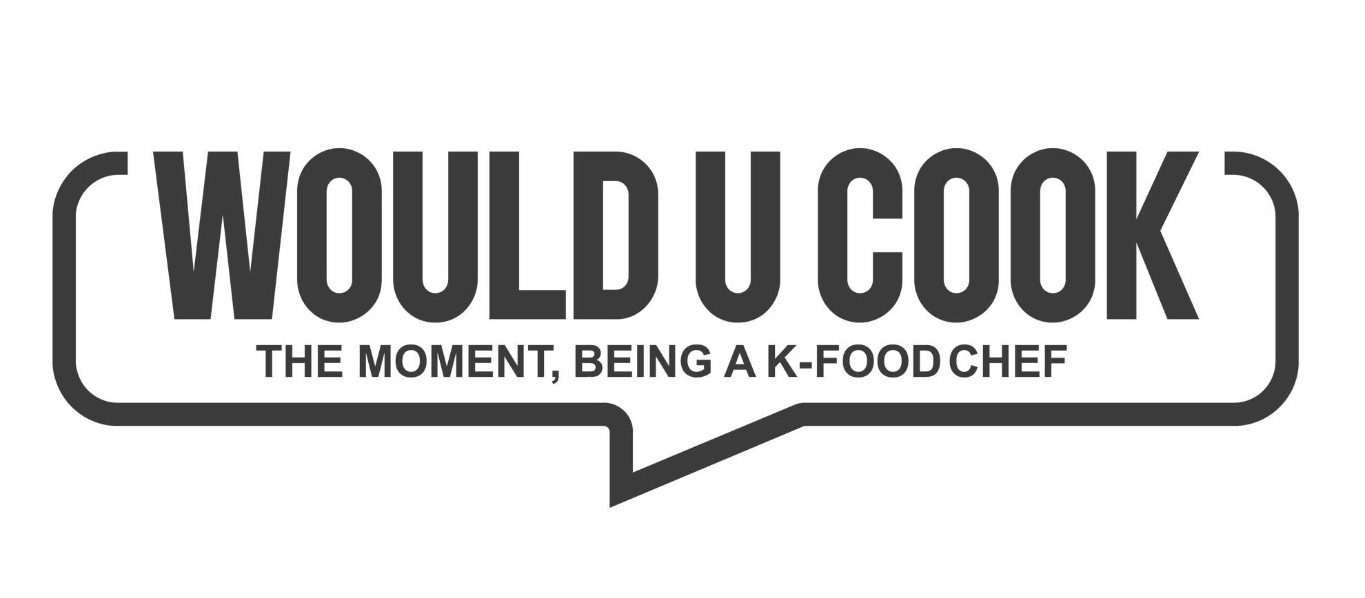 Trademark Logo WOULD U COOK THE MOMENT, BEING A K-FOOD CHEF