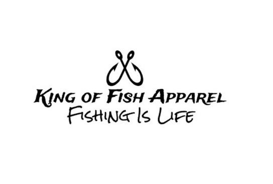 Trademark Logo KING OF FISH APPAREL FISHING IS LIFE