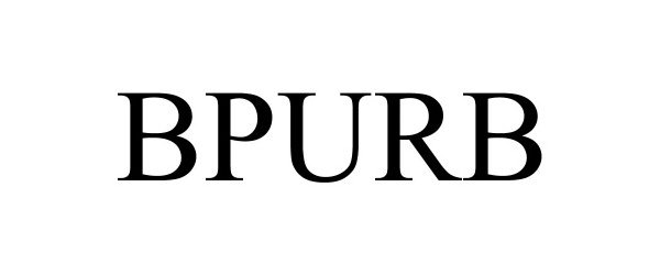 Trademark Logo BPURB