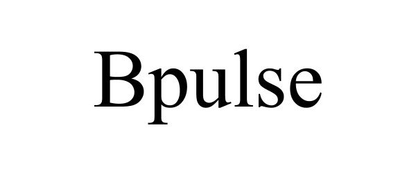 Trademark Logo BPULSE