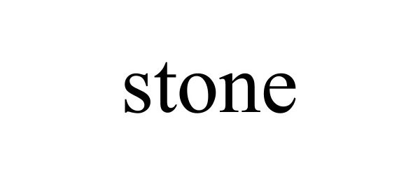 Trademark Logo STONE