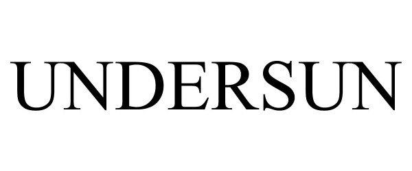Trademark Logo UNDERSUN